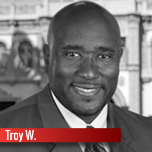 Graduate student Troy Williams