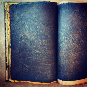 Bound book of Hark's pigmented and dyed handmade linen papers